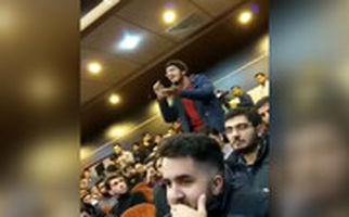 پرسشهای آتشین دانشجوی علامه از محمدباقر قالیباف در روز دانشجو: معلوم نیست ترامپی یا روحانی!