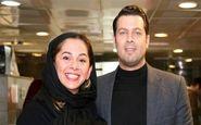 تیپ پژمان بازغی و همسرش در یک مراسم