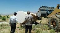  تخریب 17 مورد ساخت و سازهای غیر مجاز در اراضی کشاورزی شهرستان کرمانشاه