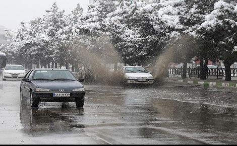برف و باران در جادههای ۹ استان