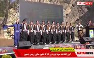 رقص بسیار زیبای کوردی در مراسم افتتاحیه کرمانشاه پایتخت آیین های نوروزی + فیلم