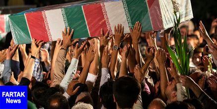 دعوت مسئولین از مردم برای حضور در تشییع پیکر شهید امیرحسین قربانی