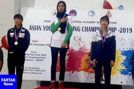 نایب قهرمانی دختر سنگنورد ایران در مسابقات قهرمانی آسیا