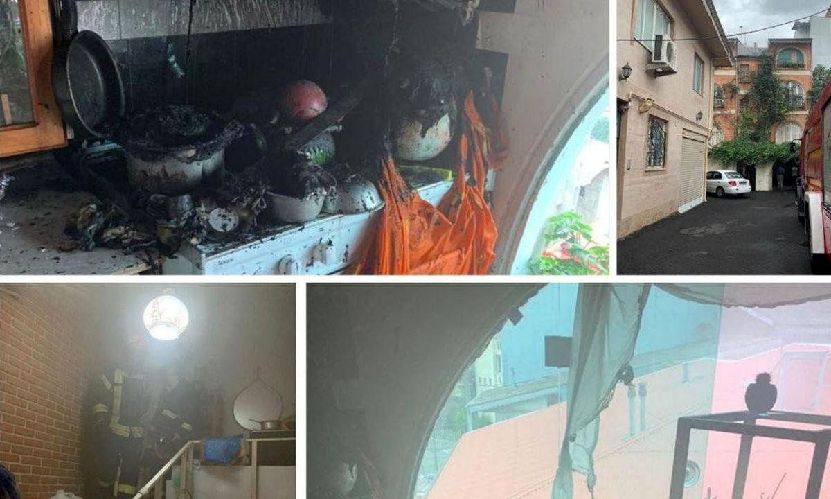 بازگشت از یکقدمی مرگ/ نجات زن رشتی از میان شعلههای آتش/ خانه اش خاکستر شد+ عکس