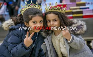 عکس هایی حاص از شادی کودکان زلزله زده / تصاویری که باید دید