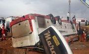 واژگونی مرگبار اتوبوس در لرستان با ۵ کشته و ۳۰ مصدوم