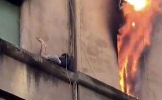 خوش شانسی توریست جوان پس از آتش گرفتن محل اقامتش!