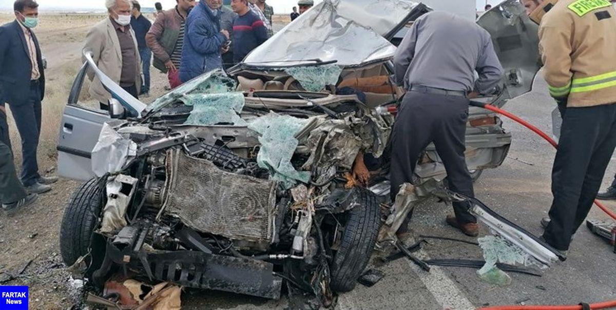 حادثه در محور گچساران_ بهبهان/۶ کشته و زخمی در برخورد پراید و پژو ۴۰۵