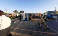 28 کشته و مصدوم در تصادف خونین اتوبوس و مینی بوس در اتوبان ساوه