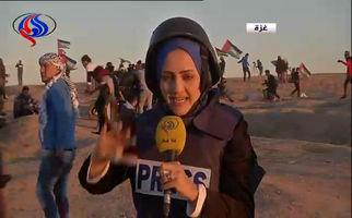 مجروح شدن خبرنگار شبکه العالم در غزه به دست صهیونیست ها + فیلم