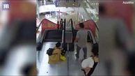 بلعیده شدن وحشتناک دست دختربچه چینی در پله برقی