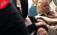 پاره کردن گردنبند زن باردار حین درگیری سر صندلی قطار