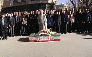 تشییع پیکر اولین جانباز انقلاب اسلامی در اصفهان + فیلم