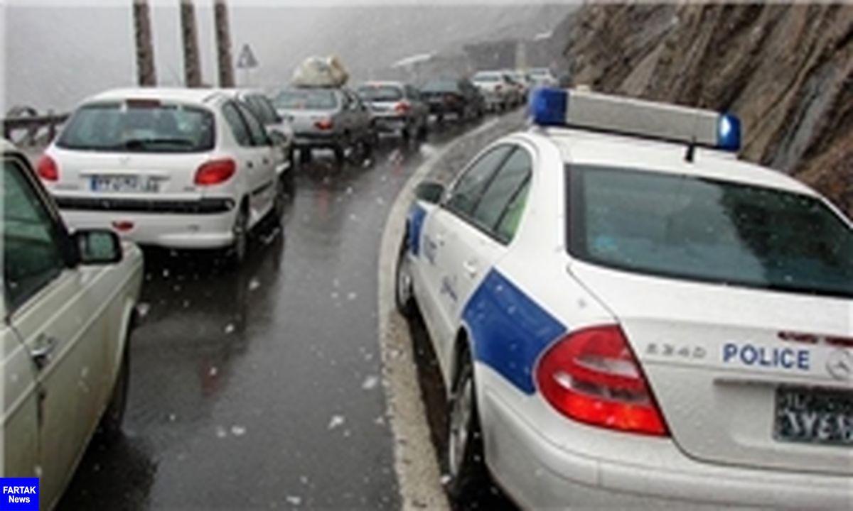 باران، ۴ محور را مسدود کرد/ ترافیک سنگین در آزادراه کرج- قزوین