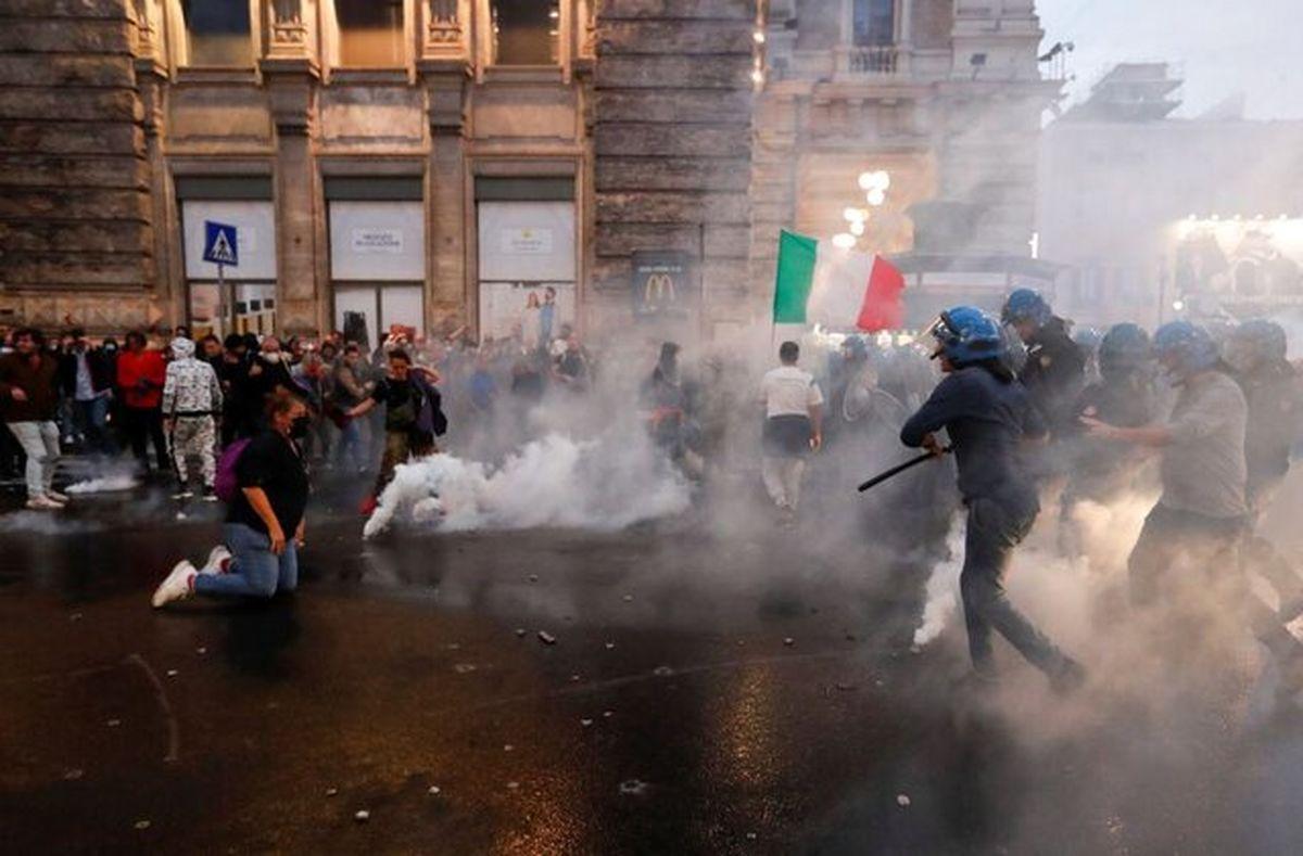 اعتراضات ضد واکسن در رم