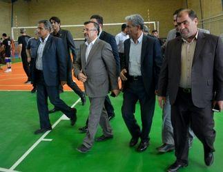 گزارش تصویری افتتاح سالن ورزشی سقف بلند و چند منظوره دهپهن کرمانشاه