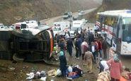 4 کشته و 24 مصدوم در سانحه واژگونی اتوبوس محور «تبریز - زنجان»