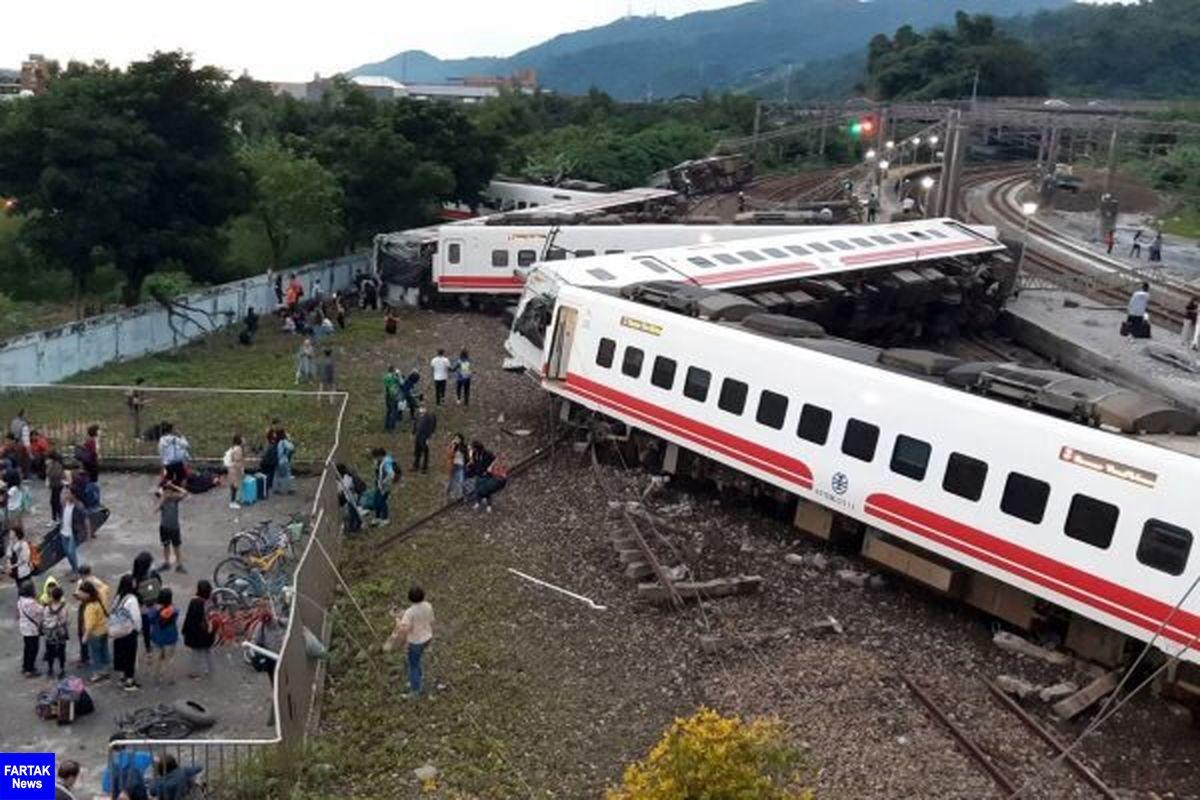 ۳۶ کشته و ۷۲ مجروح در حادثه خارج شدن قطار از ریل در تایوان