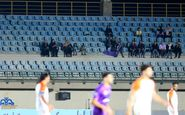 بانوان خرمشهری تماشاگر بازی لیگ یک + عکس