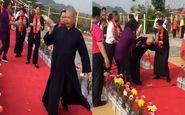 بدحال شدن راهب بودایی حین مراسم عجیب تطهیر معبد! + فیلم