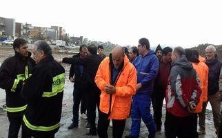 بازدید دکتر سعید طلوعی از مناطق آسیب پذیر شهر کرمانشاه در زمان وقع سیل احتمالی
