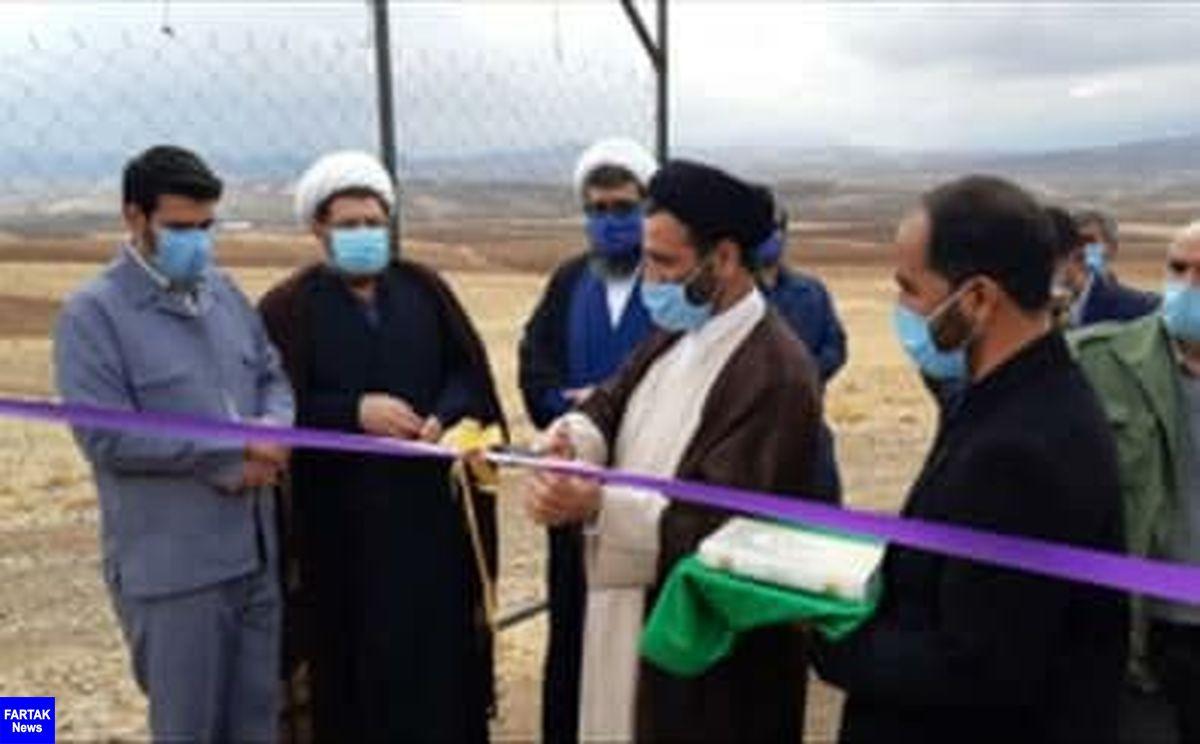 افتتاح پروژه درختکاری با فناوری واترباکس در امامزاده حسین (ع) شهرستان سنقر
