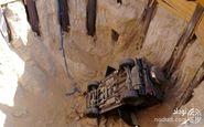 سقوط هولناک خودرو به چاله 15 متری پای شیخ محمد حاکم دوبی را به بیمارستان باز کرد + عکس