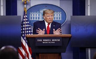 تیراندازی بیرون کاخ سفید؛ ترامپ کنفرانس خبری را ترک کرد