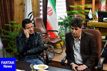 نشست علیرضا فغانی داور بینالمللی با مدیر کل اداره ورزش و جوان استان کرمانشاه