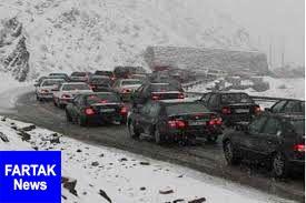 بارش برف و باران در محورهای 8 استان