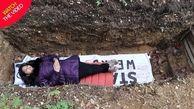 در قبر بخوابید تا شب امتحان استرس نگیرید!