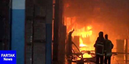 تعداد مصدومین آتشسوزی ایران چسب به 9 نفر افزایش یافت