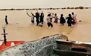 شادی مردم دشت سیستان از ورود سیلاب به این منطقه +فیلم