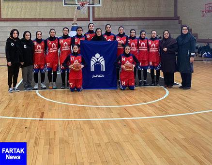 بسکتبال زنان/ دانشگاه گلستان مقابل شرکت گاز تهران پیروز شد