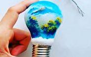 ایده جالب رنگ آمیزی لامپ