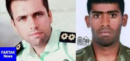 اولین تصویر از ستوان دوم داریوش رنجبر و سرباز وظیفه ناصر درزاده شهدای انفجار تروریستی چابهار