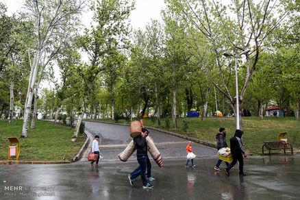 استقرار ۳۳ ایستگاه سیار یگان حفاظتی در بوستان جنگلی سرخه حصار