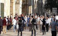 تعرض گسترده صهیونیستها به مسجد الاقصی در اولین روز عید
