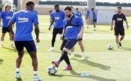 بازگشت مسی به تمرینات گروهی بارسلونا
