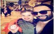 سلفی بنیامین بهادری و دخترش در یک هتل مجلل در مشهد (عکس)