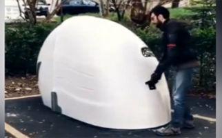 خلاقیت در ساخت پارکینگ موتورسیکلت + فیلم
