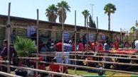 تجمع هواداران ساعت ها قبل از برگزاری بازی حساس