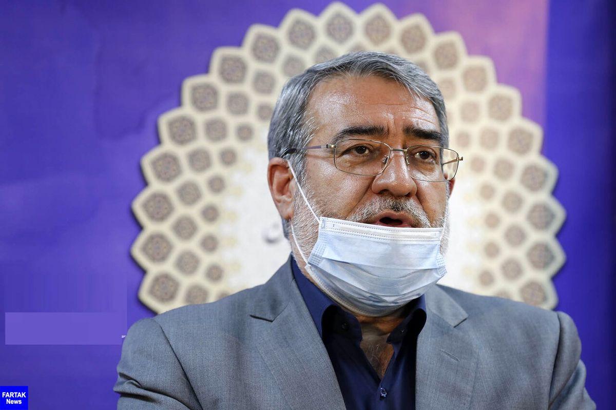 رحمانی فضلی: مرزهای ایران با عراق بسته میشود