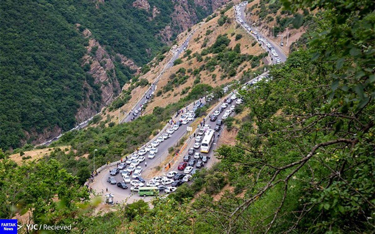 جاده چالوس به روی مسافران بسته شد