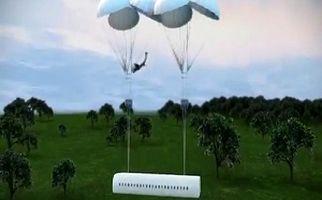 هواپیمایی که مسافرانش بر اثر سقوط نمیمیرند + فیلم