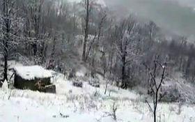 تماشای طبیعت برفی در ارتفاعات اولنگ + فیلم
