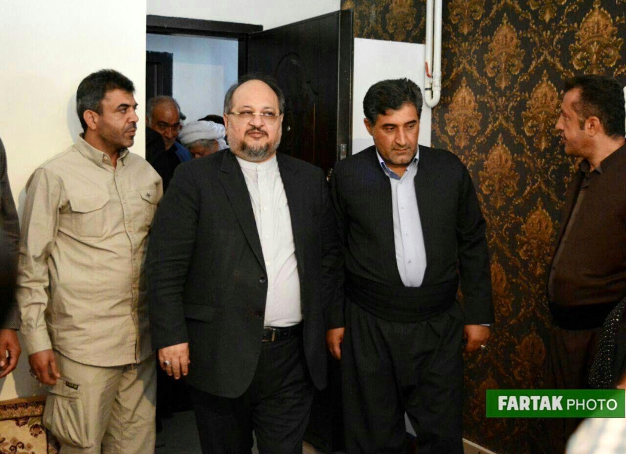 محمدشریعتمداری وزیر کار و رفاه اجتماعی در کرمانشاه