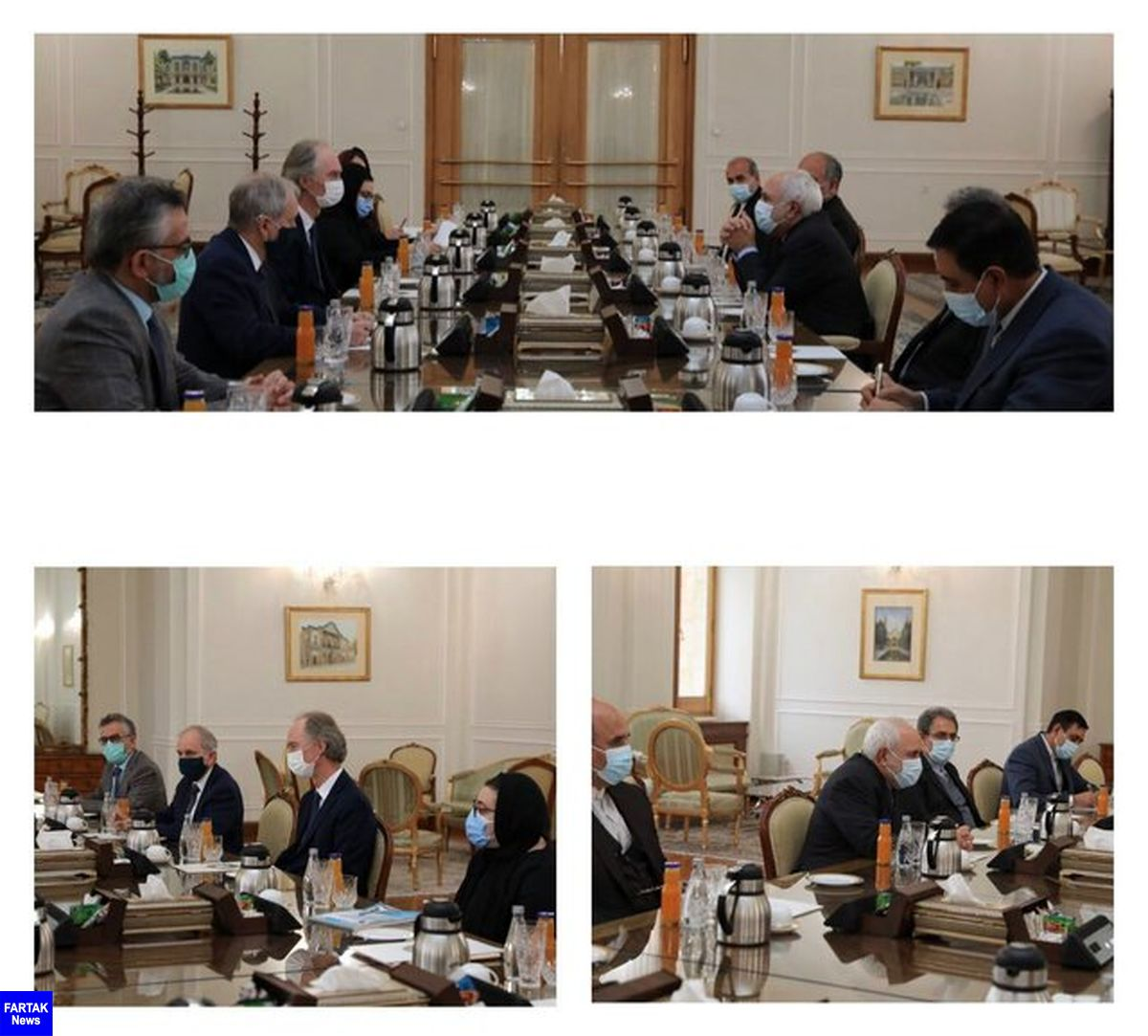 تاکید ظریف لزوم برداشتن تحریمهای ظالمانه و غیر عادلانه علیه دولت و مردم سوریه