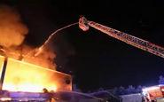 آتش سوزی مهیب در محل انباشت زباله در میلان+فیلم