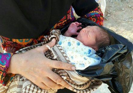 نوزاد رها شده در کرمانشاه به شیرخوارگاه معتضدی منتقل شد
